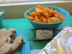 6th birthday party.  Tinkerbell - Secret of the Wings.  Easy DIY food & food labels.  Use a cut out on sandwiches.  Print out food on off white/cream thick paper.  Cut out each food item from the paper.  Crinkle paper then smooth it over corner of counter to give it old map look.  Hot glue gun twigs on edges.