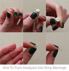 How To Make Hoop Earrings In Minutes - No Tools Required!