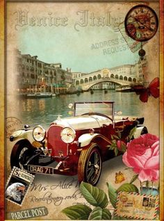 Vintage travel illustration art posters New Ideas Decoupage Vintage, Éphémères Vintage, Images Vintage, Decoupage Paper, Vintage Labels, Vintage Ephemera, Vintage Pictures, Vintage Cards, Vintage Paper