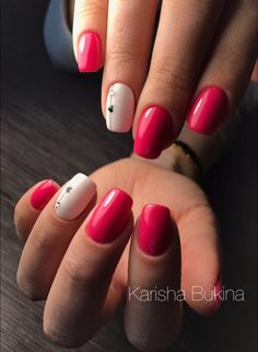 Oval Nails, Red Nails, Chic Nails, Nagel Gel, Square Nails, Perfect Nails, Acrylic Nail Designs, Natural Nails, Spring Nails