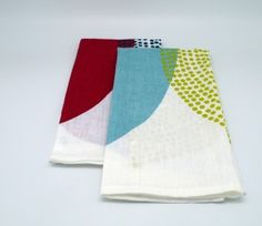 Blue and Yellow Tea Towel