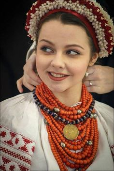 "Ukrainian flower hair piece  ""Makoviya"" studio  traditional ukrainian gown and jewelry"