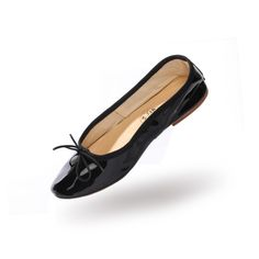 Porselli ballet flats (Black Patent leather)