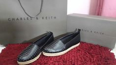 Flats covered loafer #charlesandkeith