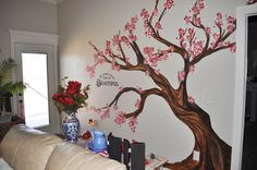 Cherry Tree mural by Sharon McBride of All That Nonsense.