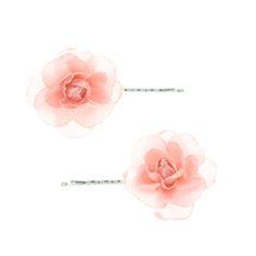 2 Pack Glitter Light Pink Rose Kirby Grips