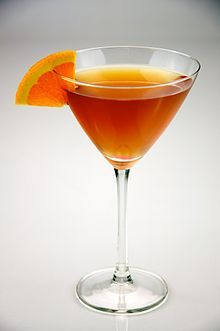 Sidecar;  Eight parts brandy or cognac  Two parts Cointreau  One part lemon juice     Preparation Mix the ingredients in a shaker half-full of ice. Strain and serve in a sugar-rimmed glass. Garnish with a strip of lemon rind