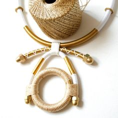 tribal thread hardware ethnic necklace statement afrofuturistic colourblock melanin handmade wrapped serpent