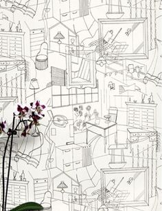 black and white wallpaper for coloring, kids room design ideas