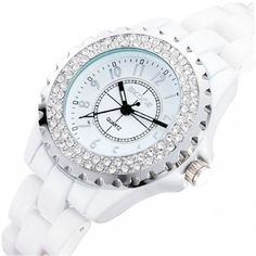 New Arrival Fashionable Exquisite Ceramic Crystal Women\'s Luxury Watch - USD $62.95 from Picsity.com