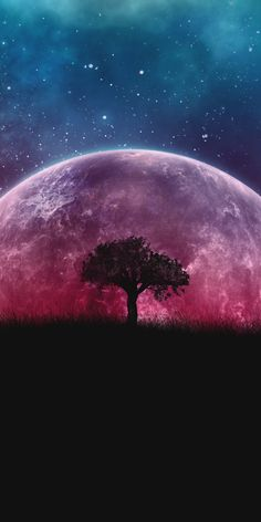 Pink Moon Wallpaper, Iphone Wallpaper Moon, Planets Wallpaper, Sunset Wallpaper, Star Wallpaper, Scenery Wallpaper, Galaxy Wallpaper, Wallpaper Backgrounds, Landscape Wallpaper