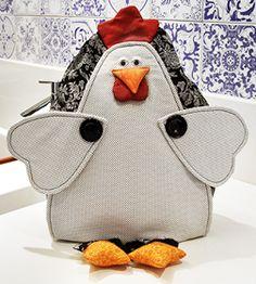 Ceci EuQfiz: Puxa saco de galinha molde e passo a passo