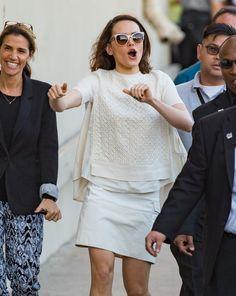 Daisy Ridley Star Wars Promotion on 'Jimmy Kimmel Live' - Daisy Ridley (Star Wars)