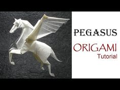 How to make an origami Dragon Designed by Jo Nakashima Support my . Origami Lion, Origami Horse, Instruções Origami, Origami Videos, Origami Dragon, Modular Origami, Useful Origami, Origami Animals, Paper Crafts Origami