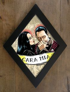 Gomez Addams and Morticia Addams diamond framed by bwanadevilart Morticia Addams, Gomez And Morticia, Horror Decor, Horror Art, Gothic House, Gothic Room, Gothic Home Decor, Painting Frames, Halloween Decorations