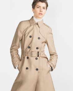 Image 2 of LONG TRENCH COAT from Zara