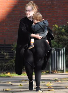 Adele and Angelo - Adele steps out makeup-free with adorable son Angelo: Cutest #celebrity #kids