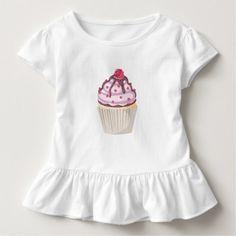 berry berry pink cupcake toddler t-shirt