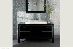 Vintage Glass Mosaic - looks like jewels in the bathroom - makes me feel like a movie star