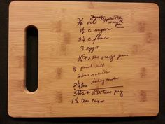 Custom engraved cutting board for Renee from 3dcarving on Etsy