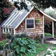 Wood Siding | Skylighting | Garden Shed | Backyard Landscaping | Yard Ideas | Guest House