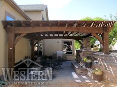 Free Standing Pergola Gallery, Free Standing Pergola Images | Western Timber Frame - barker2_20x20