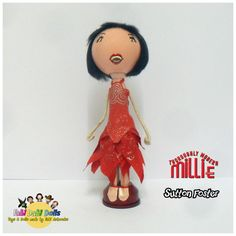Thoroughly modern millie peg doll as portrayed by sutton foster made by Fabi Dabi Dolls #suttonfoster #pegdoll #etsy # craft # handmade #millie #thoroughly # modern #musical # broadway