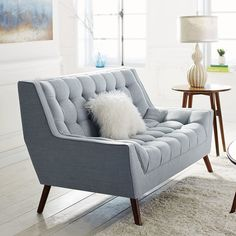 Styles: Loveseats and settes, sleeper sofas, and sectional sofas.Prices: Sectionals and sofas for $300+, loveseats and settes for $400+, and sleeper sofas for $1,100.Shipping: White glove in-home delivery for $99 with orders of $799 or more.Get this loveseat for $550.