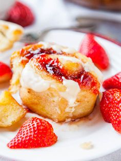 I had been wanting to make a fruit-based sweet roll for awhile and so I went for it. They were my Mother's Day present to myself. Sweet rolls, filled with jam, and topped with a vanilla cream cheese glaze is my idea of a happy Sunday morning. Especially since I started them the night before …