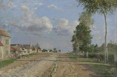 Route de Versailles, Rocquencourt, 1871, Camille Pissarro, Van Gogh Museum, Amsterdam (purchased with support from the BankGiro Loterij, the Mondriaan Fund, the Rembrandt Association and her Claude Monet Fund and the VSB Foundation)