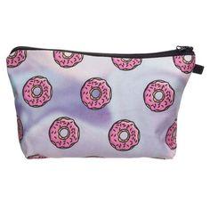 Hot Sale Cosmetic Bag Women Neceser Portable Make Up Bag&Case 3D Print Holo Donut Organizer Bolsa feminina Travel Toiletry Bag
