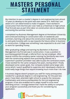 Law degree personal statement