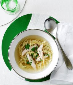 Australian Gourmet Traveller Italian main course pasta recipe for chicken noodle soup