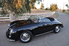 Black Porsche 356 Speedster. Dylan McKay.