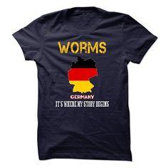 (Tshirt Popular) WORMS Its Where My Story Begins at Tshirt Family Hoodies, Tee Shirts