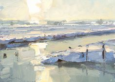 New Blog Post: https://roosschuring.com/painting-landscapes/painting-ice-and-snow/ Painting Ice and Snow.  The great thing about Ice and Snow is the disappearance of the color green. The ice reflects the light even brighter than water would. It's a great way to paint in a limited palette. I love the shade colors of snow. Then there's the time of day you can... View More at: https://roosschuring.com #Snowpainting