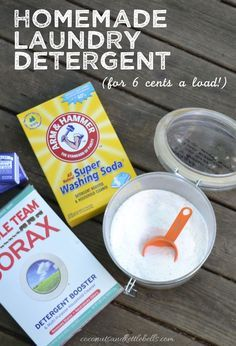 Homemade Laundry Detergent (for six cents per load!) - Coconuts & Kettlebells