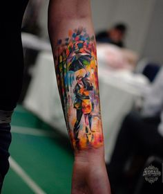 Painterly style forearm - 110+ Awesome Forearm Tattoos