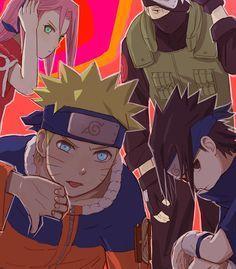 Tags: Fanart, NARUTO, Haruno Sakura, Uzumaki Naruto, Uchiha Sasuke, Hatake Kakashi, Pixiv, Team 7, PNG Conversion, Fanart From Pixiv, Pixiv Id 2875475