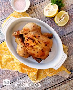Paleo Slow Cooker Rotisserie Chicken #PaleoCupboard