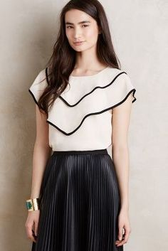 Harlyn Tiered Ruffle Top #anthrofave