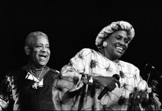 Miriam Makeba and Dizzy Gillespie in concert, Deauville (Normandy, France), July 20, 1991.