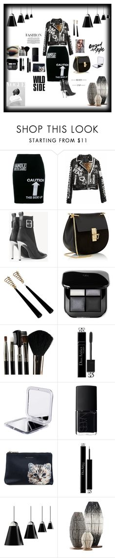 """SEXY BLACK"" by destinystarheaven on Polyvore featuring Moschino, rag & bone, Chloé, Glamour Status, Christian Dior, NARS Cosmetics, Paul & Joe Sister and Louis Poulsen"