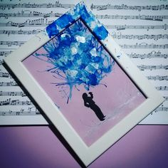 Painting handmade. Blue music.