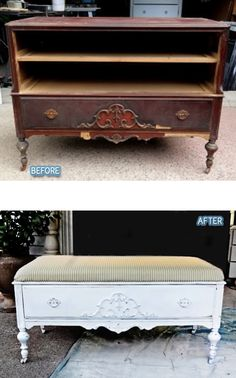 Just because something is missing some pieces, like this is missing its drawers, it can still be turned into something!