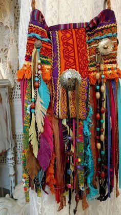 Handmade Ibiza Festival Cross Body Fringe Bag Hippie Boho Tribal Purse tmyers #Handmade #MessengerCrossBody