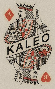 a two faced king for the Icelandic rock band Kaleo. Vintage playing card design