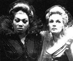 "Leontyne Price with Elisabeth Schwarzkopf in Salzburg production of ""Don Giovanni,"" August 1960"