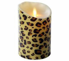 Love the animal print on this Luminara flame candle!