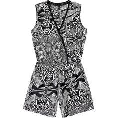 """Contempo. Modelo: G815A0401571AMA. Vestido tipo jumpsuit, cuello """"V"""". Con detalle cruzado al frente, tela estampada, elástico en cintura, manga dolman."""